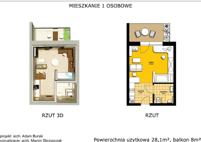 Mieszkanie dla seniorów-1osobowe