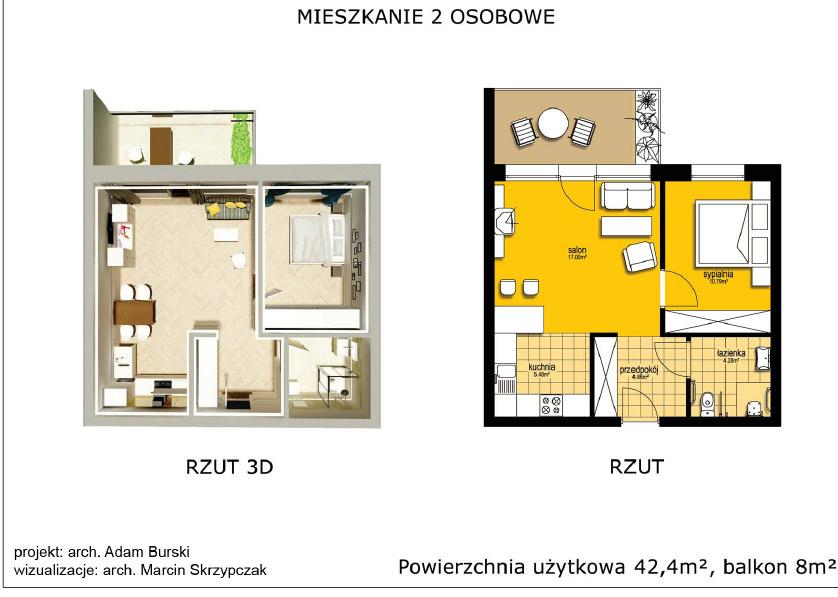 Mieszkanie dla seniorów-2osobowe